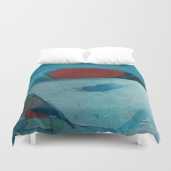 容器壊れた (broken pot) Duvet Cover