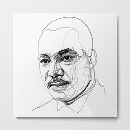 Martin L. King Jr. Metal Print