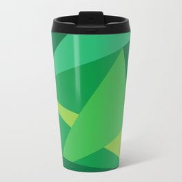 Green Fractal Pattern Travel Mug