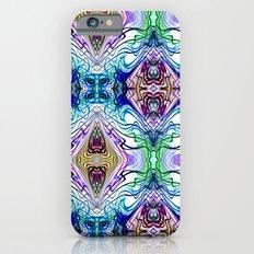 Neon Pinstripes 1 B iPhone 6s Slim Case