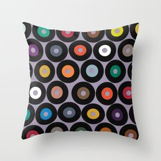VINYL lilac Throw Pillow