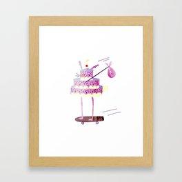Hobo Bunny Cake Framed Art Print