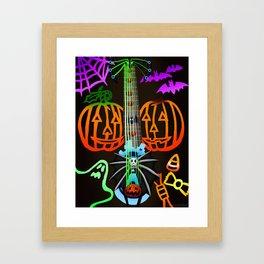 Fusion Keyblade Guitar #198 - Pumpkinhead & Dual Disk Framed Art Print