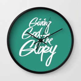 GIVING GOD THE GLORY Wall Clock