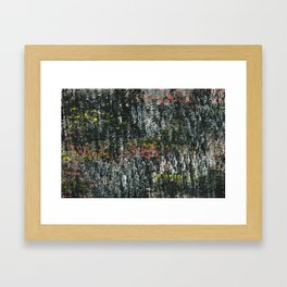 Here & There Abstact Painting - Dark with Pops of Color Framed Art Print