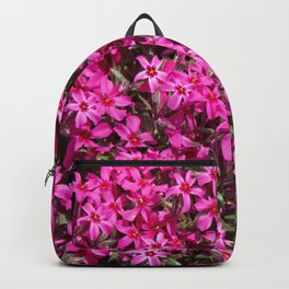 Deep pink small flowers Backpack