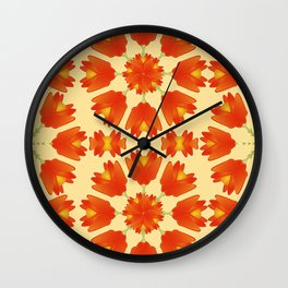 Colorful Floral Print Vector Style Wall Clock