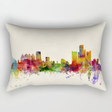 Detroit Michigan Skyline Rectangular Pillow