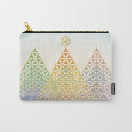 Flower of Life Pine Trees Carry-All Pouch