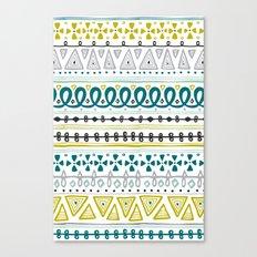 Boho Market Stripe Canvas Print