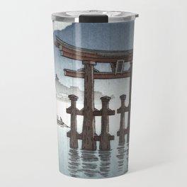 Tsuchiya Koitsu - Aki Miyajima - Japanese Vintage Woodblock Painting Travel Mug