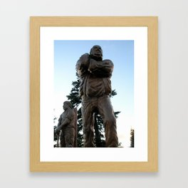 Wood Carved Lumberjack  Framed Art Print