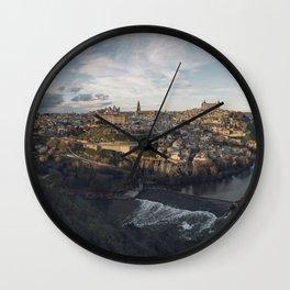 Toledo at sunset Wall Clock