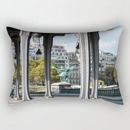 Pont de Bir-Hakeim in Paris Rectangular Pillow