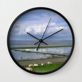 On the dike Wall Clock
