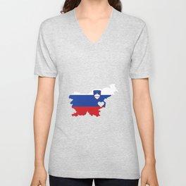 Love Slovenia Gift Pride Heart Unisex V-Neck