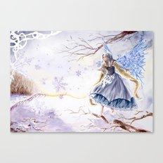 Winter faery Canvas Print