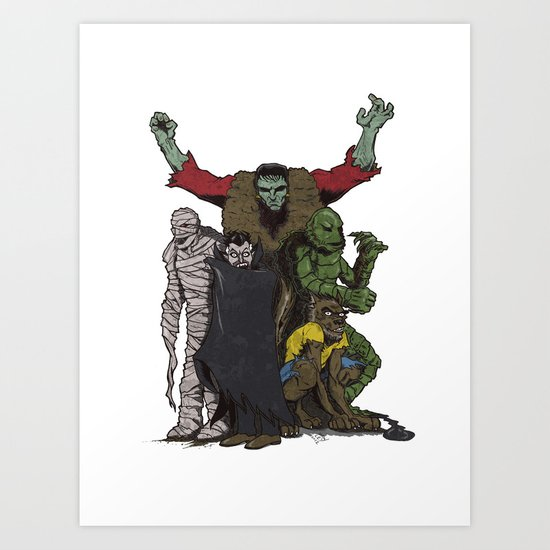 The Demonsterables (no text) Art Print