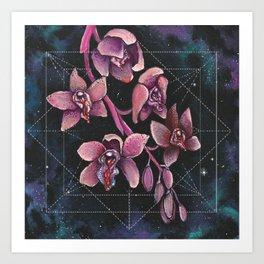 Bleeding Cymbidium Art Print