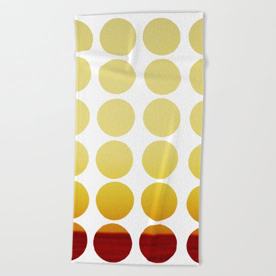 Warm dots Beach Towel