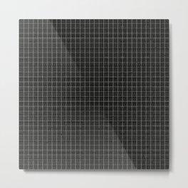 Grid Black and White Metal Print