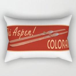 Ski Aspen Colorado Rectangular Pillow