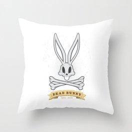 Dead Bunny Throw Pillow