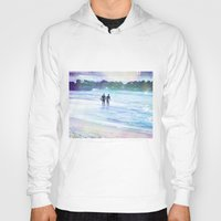 surfer Hoodies featuring Surfer Boys by Teresa Chipperfield Studios