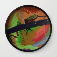 pain Wall Clocks featuring Pain by ErikMcManusInc.