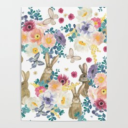 funny bunnies Poster
