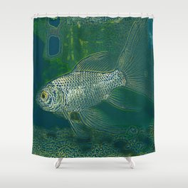 HB sea rgg Shower Curtain