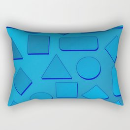 0807 Play with gradient and forms 2 ... Rectangular Pillow