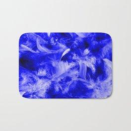 Colorful Feathers,blue Bath Mat