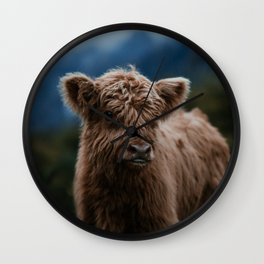 Baby Highland Cow Wall Clock