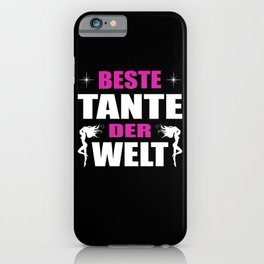 Best Aunt In The World I Aunt Lady Gift iPhone Case