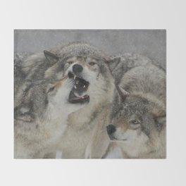 Family Squabble Throw Blanket