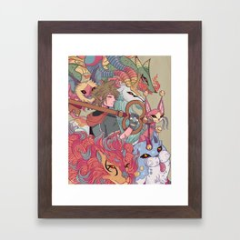 Night Parade of A Hundred Demons Framed Art Print