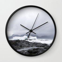 Faroe Islands rocky shores  Wall Clock