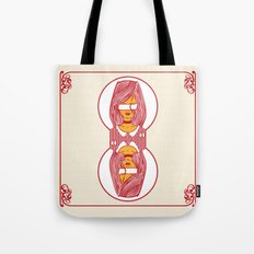 custom playing cards back (red) Tote Bag