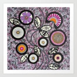 Lovely Flowers Pink Art Print
