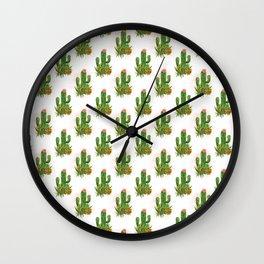 Cacti and succulents arrangement Wall Clock