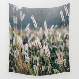 Whimsical Tall Grass Nature Field Landscape Photo Wall Tapestry