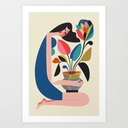 Protea Lover Art Print