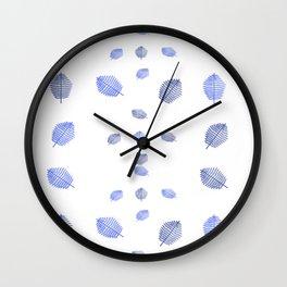 Ultravioletleafsmallpattern2 Wall Clock