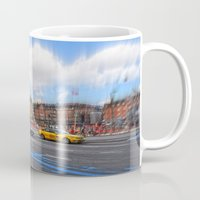 street Mugs featuring street by  Agostino Lo Coco