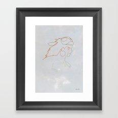 One line Mononoke Framed Art Print