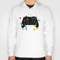 xbox Hoodies featuring Controller Graffiti XBox One by AngoldArts
