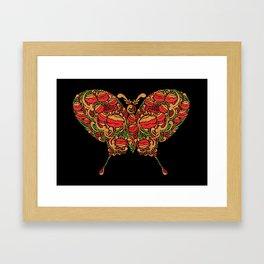 The Butterfly in Khokhloma Framed Art Print