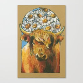 Happy Highlander Canvas Print