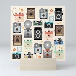 1960s Vintage Cameras Mini Art Print